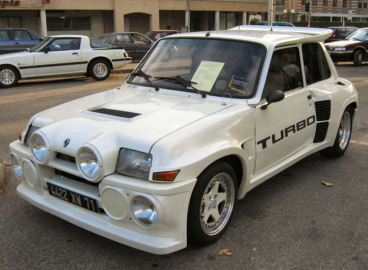 blanche avg R 5 turbo 2 cevennes avg. 1984