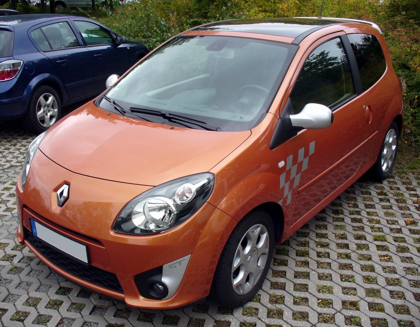 orange avg Renault Twingo II Phase I GT Funkenorange