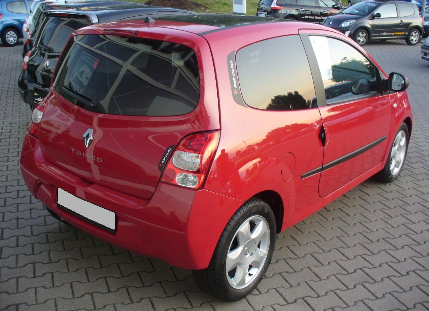 rouge ard Renault Twingo II Phase I Rip Curl Spanischrot Heck